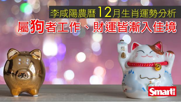 李咸陽農曆12月生肖運勢分析 屬狗者工作、財運皆漸入佳境