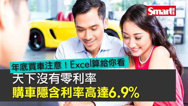 天下沒有零利率 購車隱含利率高達6.9%