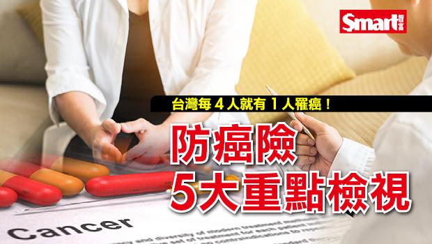 防癌險5大重點檢視