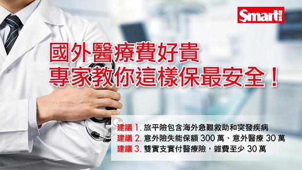 國外醫療費好貴 專家教你這樣保最安全!