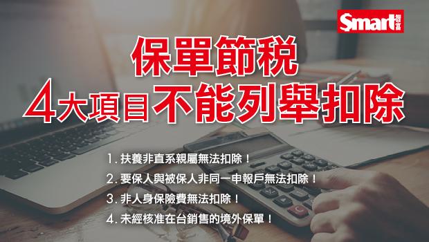 2019年報稅》用保單節稅,注意2大重點及4項目「不能列舉扣除」!
