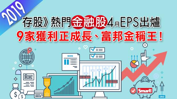 存股熱門》金融股前4月自結EPS出爐,9家獲利正成長、富邦金1.66元稱王!