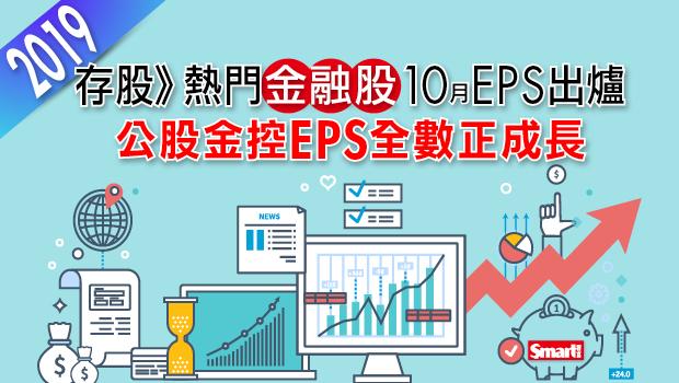 存股熱門》金融股前10月自結EPS出爐,公股金控EPS全數正成長!