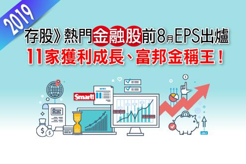 金融股前8月自結EPS出爐,11家獲利正成長、富邦金EPS 4.58元稱王!