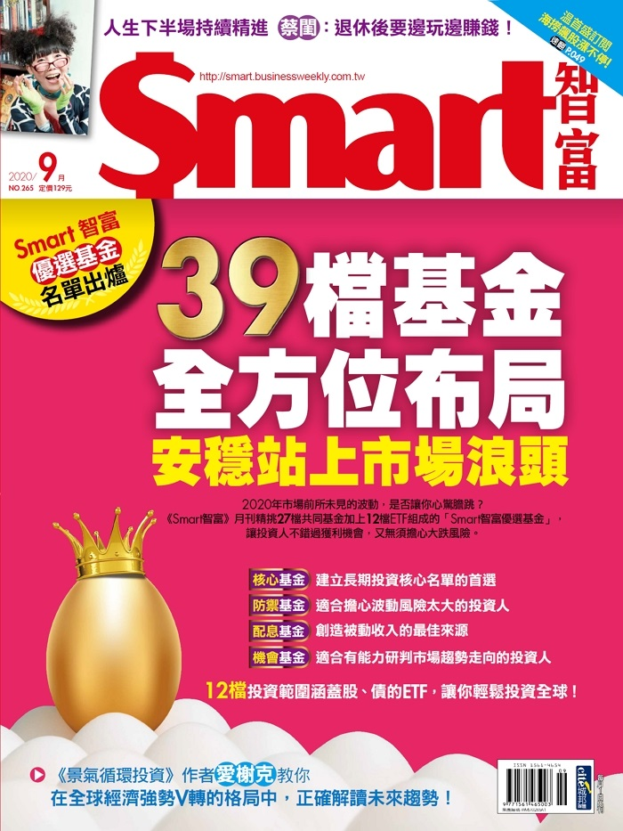 Smart智富優選基金名單出爐》39檔基金全方位布局 安穩站上市場浪頭